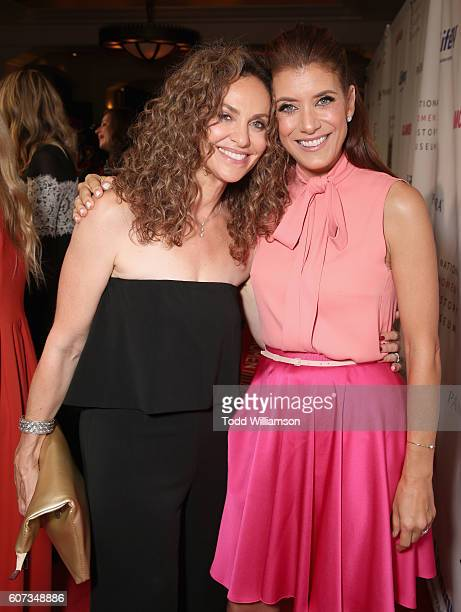 Actresses Amy Brenneman and Kate Walsh attend the National Women's History Museum 5th Annual Women Making History Brunch presented by Glamour and...