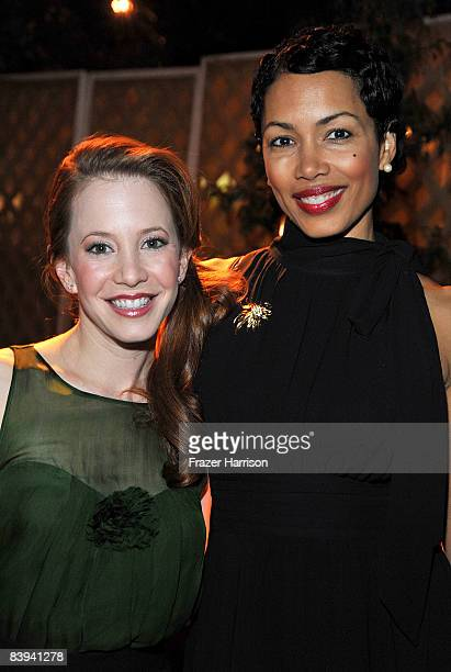 """Actresses Amy Davidson and Ingrid Rogers pose during the Church of Scientology Celebrity Centre's 16th annual """"Christmas Stories"""" benefit for the..."""