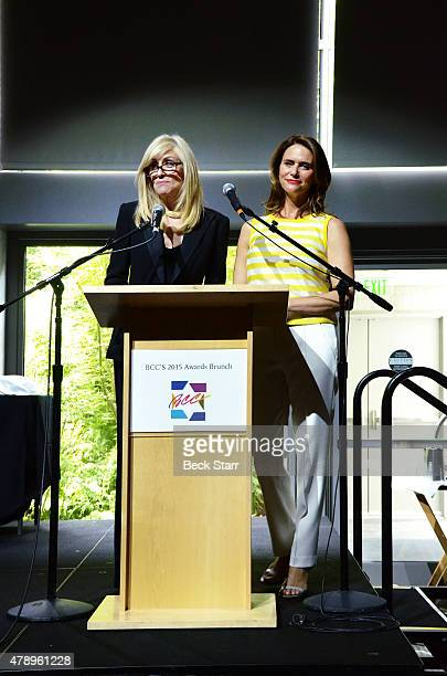 Actresses Amy Landecker and Judith Light attend 2015 Beth Chayim Chadashim Annual Awards Brunch honoring Jeffrey Tambor for his work on 'Transparent'...