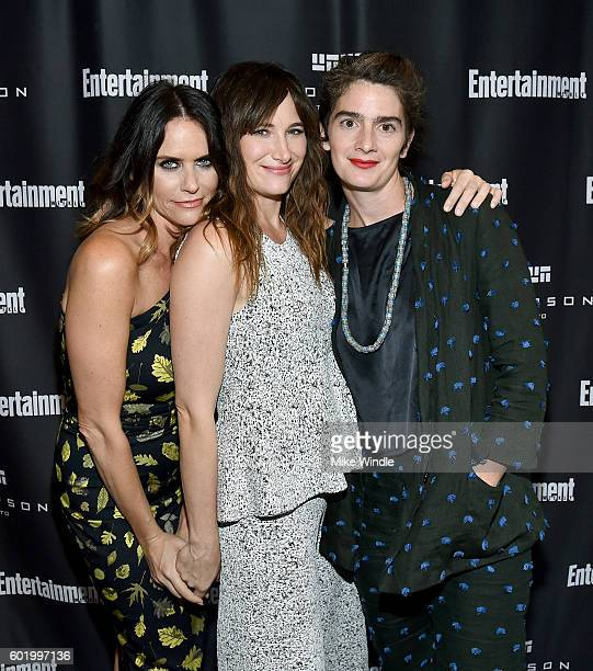 Actresses Amy Landecker Kathryn Hahn and Gaby Hoffmann attend Entertainment Weekly's Toronto Must List party at the Thompson Hotel on September 10...