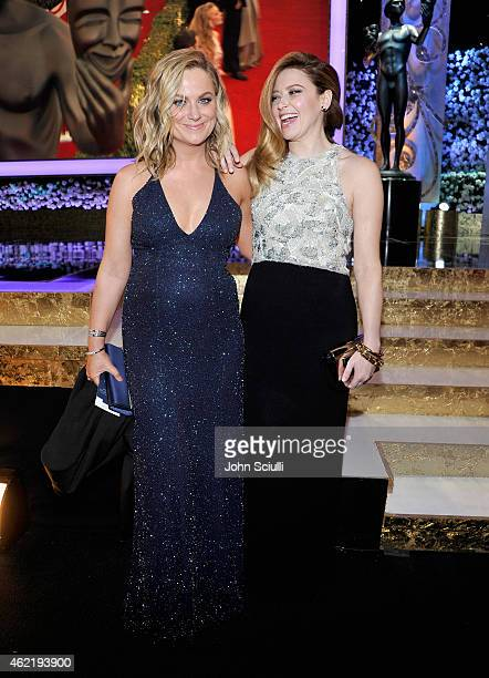 Actresses Amy Poehler and Natasha Lyonne attend TNT's 21st Annual Screen Actors Guild Awards at The Shrine Auditorium on January 25, 2015 in Los...