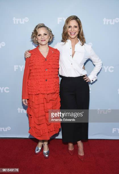 Actresses Amy Sedaris and Andrea Savage arrive at truTV's offical FYC event for 'At Home With Amy Sedaris' and Andrea Savage's 'I'm Sorry' at...