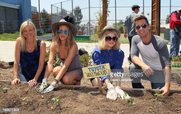 Actresses Amy Smart and Dawn Olivieri and singers Alison Sudol aka A Fine Frenzy and Lance Bass attend the Environmental Media Association event at...