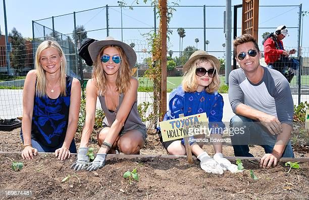 Actresses Amy Smart and Dawn Olivieri and singers Alison Sudol and Lance Bass and The Environmental Media Association's Young Hollywood Board visit...