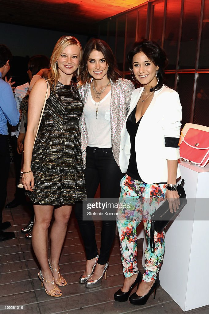 Actresses Amy Smart, Nikki Reed and Emmanuelle Chriqui attends Coach's 3rd Annual Evening of Cocktails and Shopping to Benefit the Children's Defense Fund hosted by Katie McGrath, J.J. Abrams and Bryan Burk at Bad Robot on April 10, 2013 in Santa Monica, California.