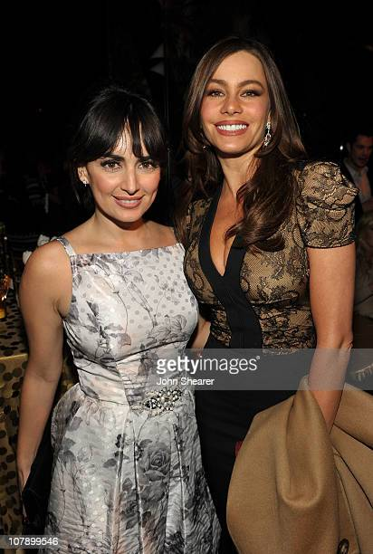 Actresses Ana de la Reguera and Sofia Vergara attend COVERGIRL 50th Anniversary Celebration at BOA Steakhouse on January 5 2011 in West Hollywood...