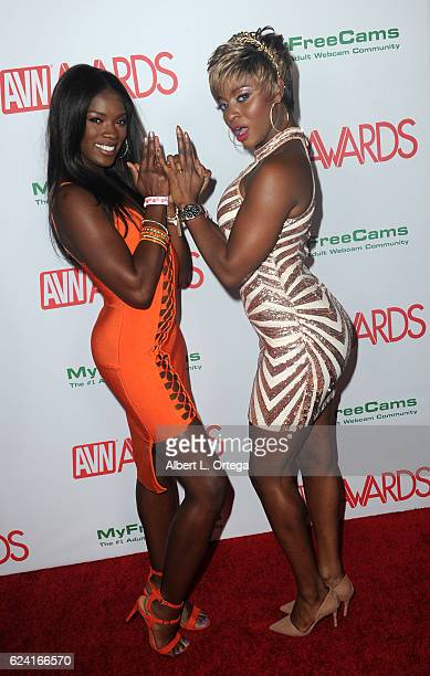Actresses Ana Foxxx And Jasmine Webb Arrive For The 2017 Avn Awards Nomination Party Held At