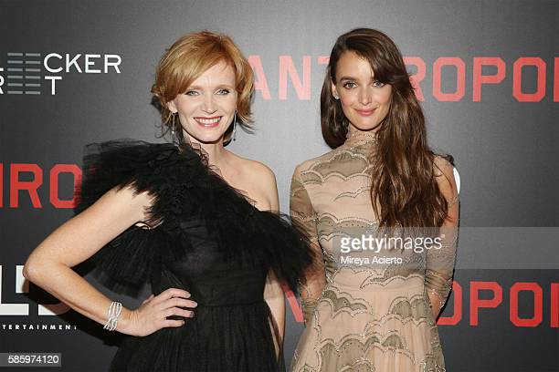 Actresses Ana Geislerova and Charlotte Le Bon attend the New York Premiere for 'Anthropoid' at AMC Lincoln Square Theater on August 4 2016 in New...