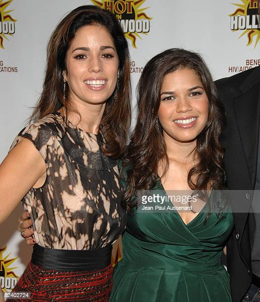 Actresses Ana Ortiz and America Ferrera arrive at the 3rd Annual Hot in Hollywood held at Avalon on August 16 2008 in Hollywood California