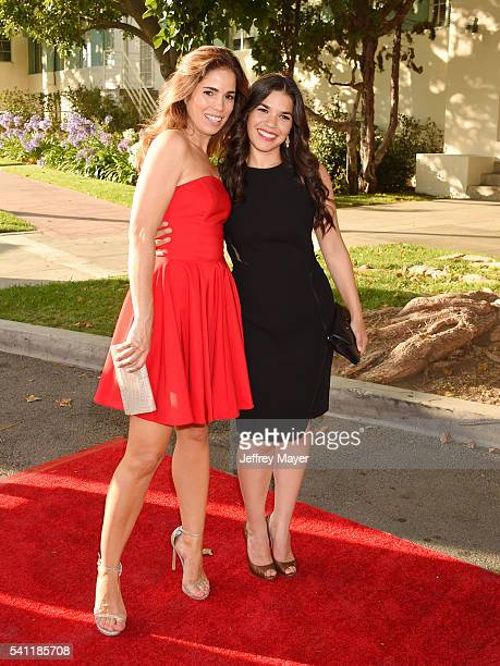 Actresses Ana Ortiz and America Ferrera attend the 2016 Stand For Kids Annual Gala benefiting Orthopedic Institute for Children at Twentieth Century...
