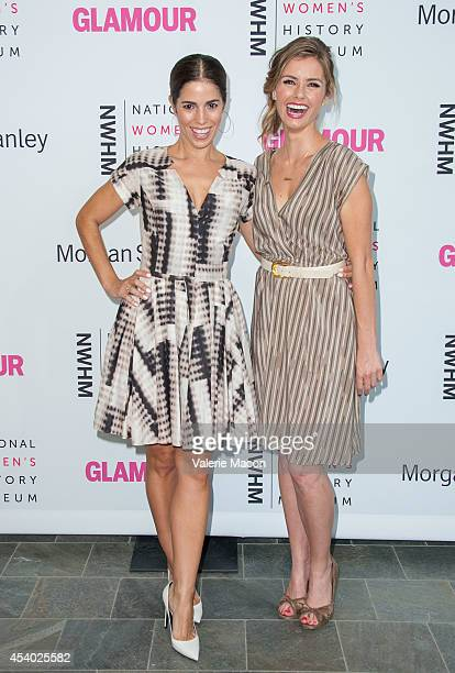 Actresses Ana Ortiz and Brianna Brown arrive at the National Women's History Museum And Glamour Magazine's 3rd Annual Women Making History Eventat...
