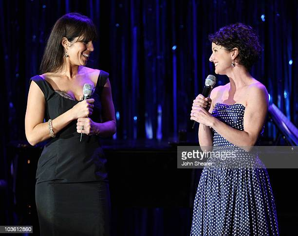 Actresses Ana Ortiz and Jean Louisa Kelly perform on stage during A Night at Sardi's at the Beverly Hilton Hotel on March 5 2008 in Beverly Hills...