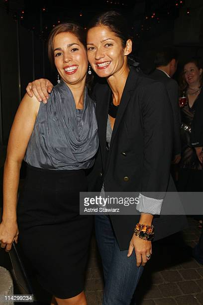 Actresses Ana Ortiz and Jill Hennessy attend the Obakki spring - summer 2010 collection presentation at The Soho Grand - Yard Bar on September 21,...