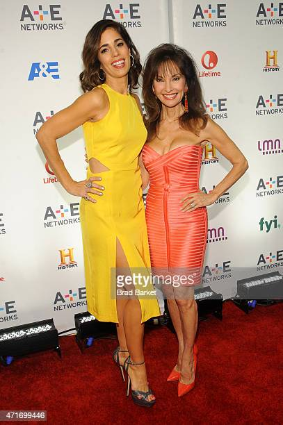 Actresses Ana Ortiz and Susan Lucci attend the 2015 AE Networks Upfront on April 30 2015 in New York City