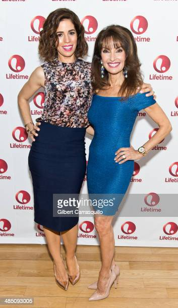 Actresses Ana Ortiz and Susan Lucci attend the 'Devious Maids' Fan Event at the Bryant Park Hotel on April 16 2014 in New York City