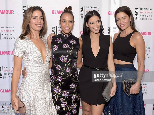 Actresses Ana Ortiz Dania Ramerez Edy Ganem and Mercedes Mason attend the 4th Annual Women Making History Brunch presented by the National Women's...