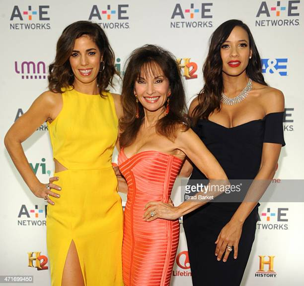 Actresses Ana Ortiz Susan Lucci and Dania Ramirez attend the 2015 AE Networks Upfront on April 30 2015 in New York City