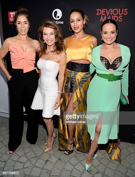 Actresses Ana Ortiz Susan Lucci Dania Ramirez and Judy Reyes attend Lifetime MeWe And TV Guide Celebrate The 'Devious Maids' Season Four Premiere at...