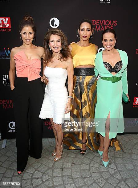 Actresses Ana Ortiz Susan Lucci Dania Ramirez and Judy Reyes attend the Premiere of Lifetime's 'Devious Maids' Season 4 at STK Los Angeles on June 2...