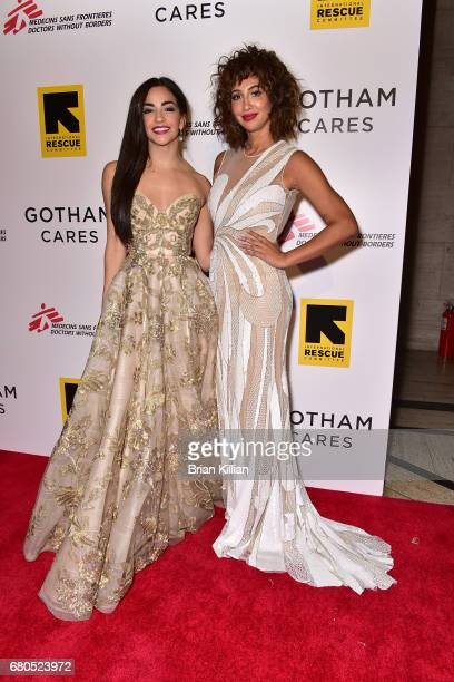 Actresses Ana Villafane and Jackie Cruz attend the Gotham Cares Gala Fundraiser at Cipriani 25 Broadway on May 8 2017 in New York City