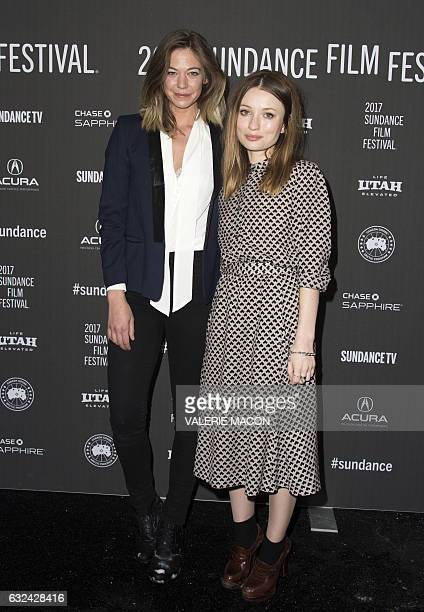 Actresses Analeigh Tipton and Emily Browning attend 'Golden Exits' Premiere at Library Center Theatre during the 2017 Sundance Film Festival in Park...