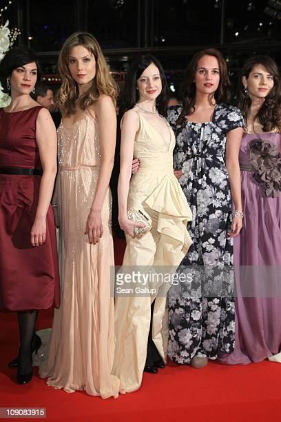 Actresses and 2011 Shooting Stars Marija Skaricic Sylvia Hoeks Andrea Riseborough Alicia Vikander and Natasha Petrovic attend the 'Coriolanus'...