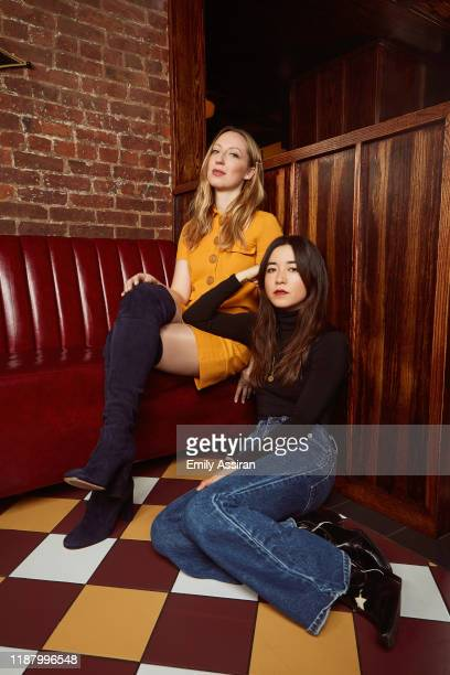 Actresses and creators Anna Konkle and Maya Erskine are photographed for BackStage Magazine on March 20 2019 at Holy Ground in New York City