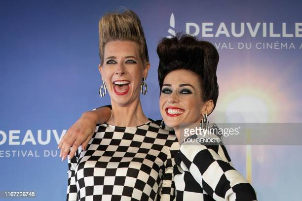 US actresses and directors Dawn Luebbe and Jocelyn DeBoer pose during a photocall to present the film Greener Grass during the 45th US Film Festival...