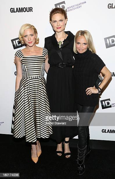Actresses and honorees Brittany Snow Emily Deschanel and Kristin Chenoweth attend Investigation Discovery's 'Inspire A Difference Awards' on...