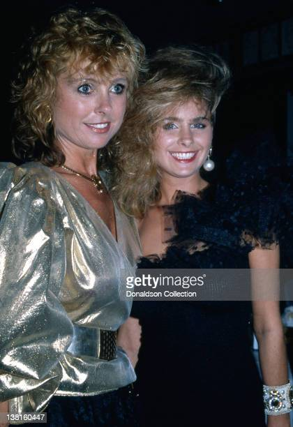 Actresses and mother and daughter Samantha Juste Dolenz and her daughter Ami Dolenz attend an event in October 1987 in Los Angeles California