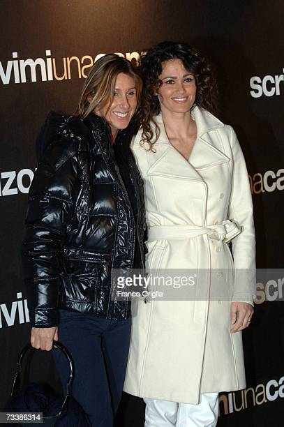 Actresses and sisters Samantha De Grenet and Iliana De Grenet attends the Italian premiere of the movie Music And Lyrics at the Warner Moderno cinema...