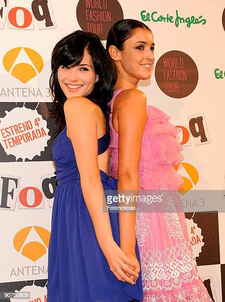 Actresses Andrea Duro and Blanca Romero attends Fisica o Quimica 4th season premiere at Capitol Cinema on September 14 2009 in Madrid Spain