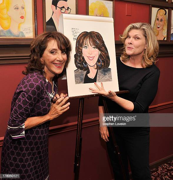 Actresses Andrea Martin and Debra Monk attend the Andrea Martin caricature unveiling at Sardi's on August 29 2013 in New York City