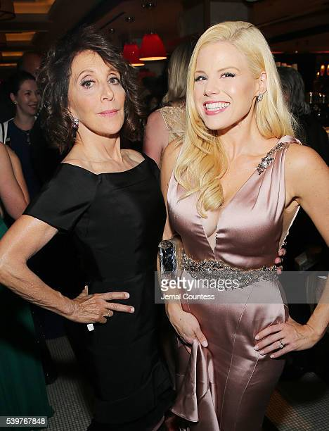 Actresses Andrea Martin and Megan Hilty attend the after party for the 2016 Tony Awards Gala presented by Porsche at the Plaza Hotel on June 12 2016...