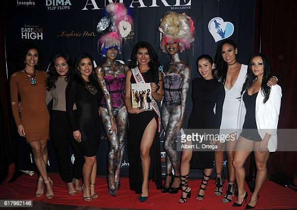 Actresses Andrea Sixtos Alex Rodriguez Alicia Sixtos Miss Guatemala/Miss Latina Global Damaris Cegielski Ashley Campuzano Jes Meza and Danielle Vega...