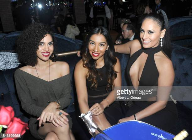 Actresses Andrea Sixtos Leticia Perez and Jes Meza attend the Amare Magazine's Winter Soiree 3rd Issue Launch held at EnVy Lounge on February 19 2017...