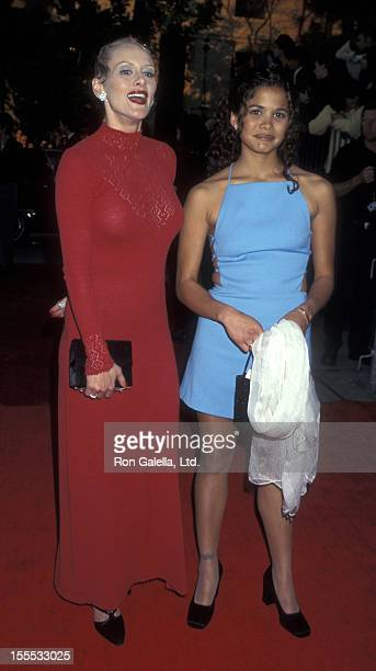 Actresses Andrea Thompson and Lourdes Benedicto attend Third Annual Screen Actor's Guild Awards on February 23 1997 at the Shrine Auditorium in Los...