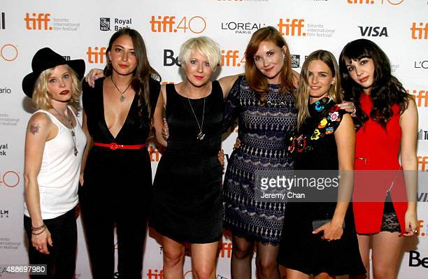 Actresses Anessa Ramsey Fabianne Therese Director Roxanne Benjamin Director Susan Burke actresses Nathalie Love and Hannah Marks attend the...