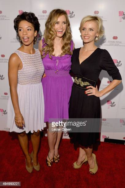Actresses Angel Parker Brianna Brown and Sara Wells attended the What A Pair Benefit Concert to support breast cancer research education programs at...