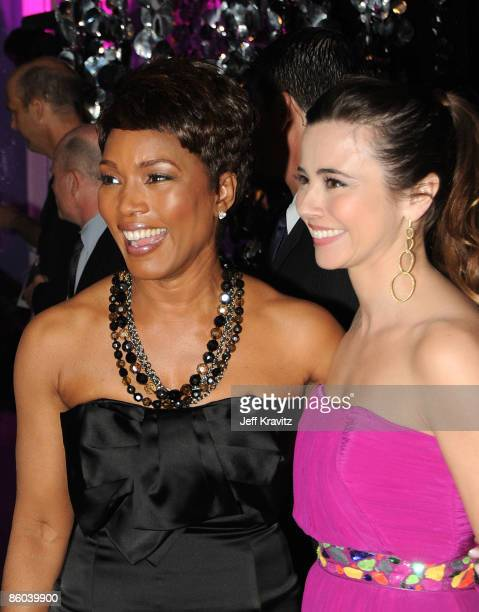 Actresses Angela Bassett and Linda Cardellini backstage at the 7th Annual TV Land Awards held at Gibson Amphitheatre on April 19 2009 in Universal...