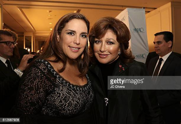 Actresses Angelica Vale and Angelica Maria attend the 19th Annual National Hispanic Media Coalition Impact Awards Gala at Regent Beverly Wilshire...