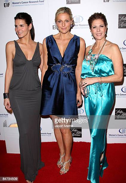 Actresses Angie Harmon Jamie Tish and Rita Wilson arrive at the Unforgettable Evening Benefiting The Entertainment Industry Foundation held at the...