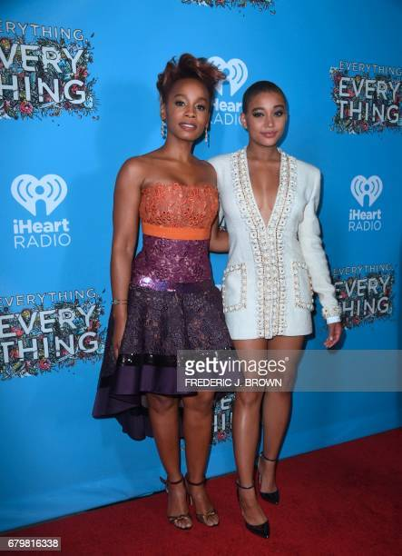 Actresses Anika Noni Rose and Amandia Srenberg arrive for the premiere of the film Everything Everything in Hollywood California on May 6 2017 J BROWN