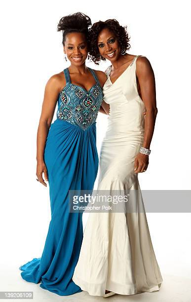 Actresses Anika Noni Rose and Holly Robinson Peete pose for a portrait at the 43rd NAACP Image Awards held at The Shrine Auditorium on February 17...