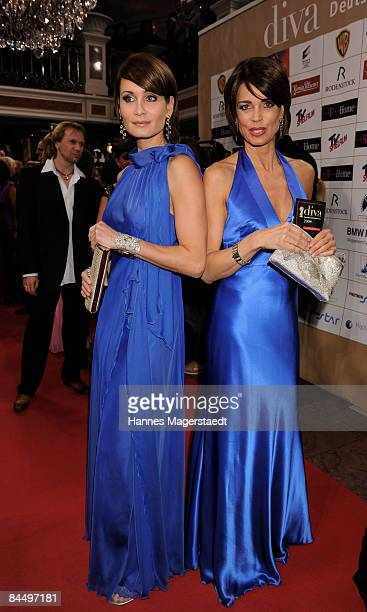 Actresses Anja and Gerit Kling attend the Diva Entertainment Award at the Hotel Bayerischer Hof on January 27 2009 in Munich Germany