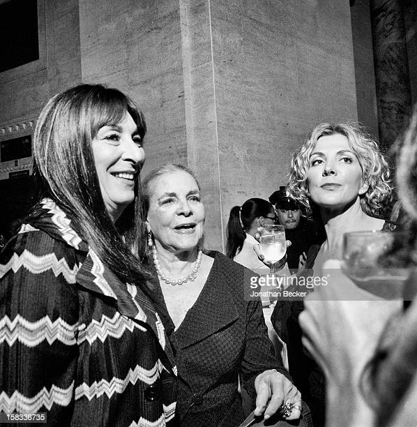 Actresses Anjelica Huston Lauren Bacall and Natasha Richardson are photographed for Vanity Fair Magazine on April 22 2008 at the Vanity Fair Tribeca...