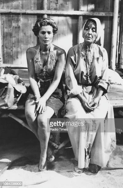 Actresses Ann Bell and Patricia Lawrence in a scene from the television series 'Tenko', April 7th 1982.