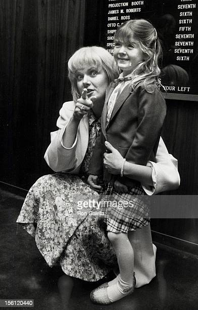 Actresses Ann Jillian and Bridgette Anderson attending the screening of 'Mae West' on April 21 1982 at the Director's Guild Theater in Hollywood...
