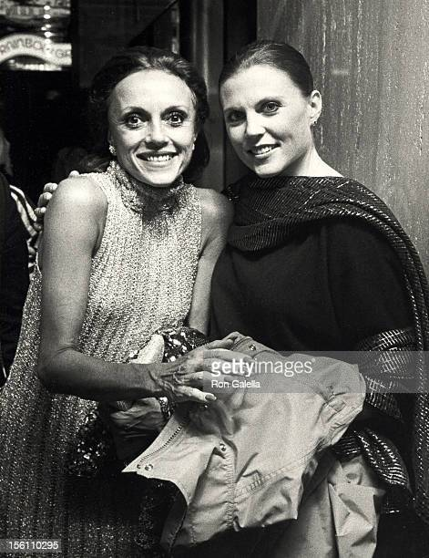 Actresses Ann Reinking and Lillianne Montevecchi attending Third Annual Astaire Awards on October 22 1984 at the Rainbow Room in New York City New...