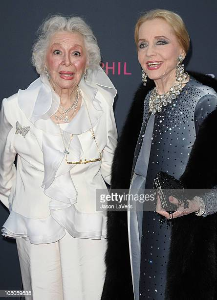 Actresses Ann Rutherford and Anne Jeffreys attend the The Los Angeles Philharmonic season opening night gala at Walt Disney Concert Hall on October 7...